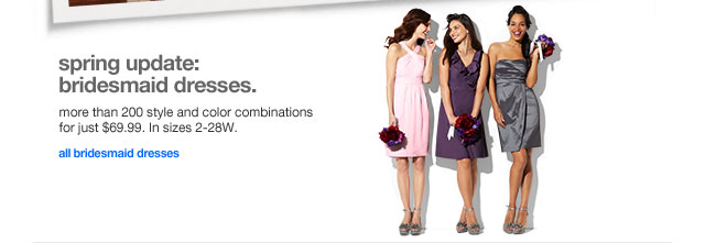 Spring update: bridesmaid dresses.