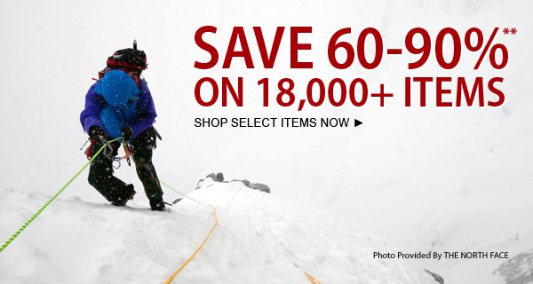 TODAY ONLY! Save 60-90% on over 18,000 items!
