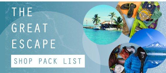 Shop the Great Escape List