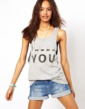 ASOS Vest with 'I Blank You' Print