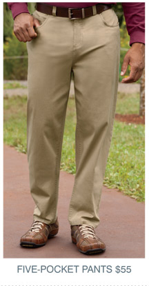 Harbor Bay® Five-Pocket Continuous Comfort™ Pants