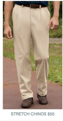 Harbor Bay® Continuous Comfort™ Stretch Chinos