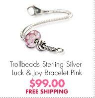 Trollbeads Sterling Silver Luck & Joy Bracelet Pink $99.00 FREE SHIPPING