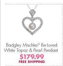 Badgley Mischka® Be-Loved White Topaz & Pearl Pendant $179.99 FREE SHIPPING
