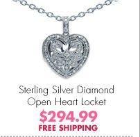 Sterling Silver Diamond Open Heart Locket $294.99 FREE SHIPPING