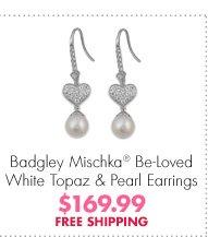Badgley Mischka® Be-Loved White Topaz & Pearl Earrings $169.99 FREE SHIPPING