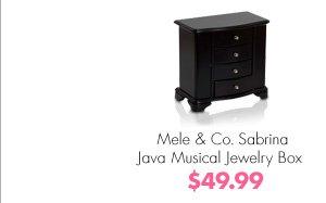 Mele & Co. Sabrina Java Musical Jewelry Box $49.99