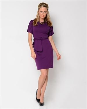 Julian Taylor Belted Short Sleeve Dress
