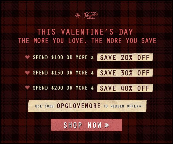 SPEND $100 OR MORE AND SAVE 20% OFF