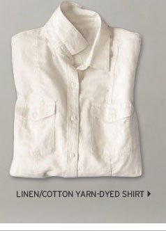 Linen/Cotton Yarn-Dyed Shirt