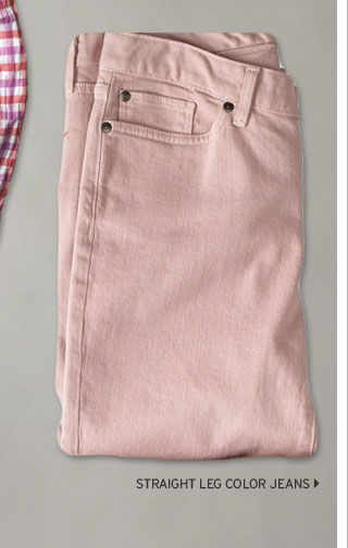 Straight Leg Color Jeans