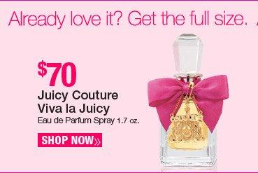Full size Viva la Juicy Eau de Parfum Spray 1.7 oz. - $70. Shop Now.