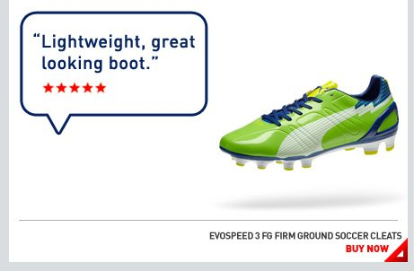 EVOSPEED 3 FG FIRM GROUND SOCCER CLEATS. BUY NOW