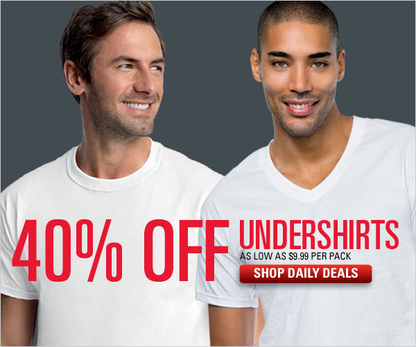 40% off Undershirts