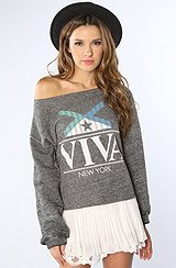 The Lounger Viva Boyfriend Sweatshirt in Black