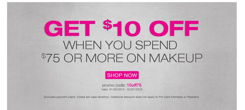 $10 off orders over $75