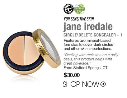"For Sensitive Skin: jane iredale Circle\Delete Concealer - 1 Features two mineral-based formulas to cover dark circles and other skin imperfections. ""Dealing with melasma on a daily basis, this product helps with great coverage."" –From Arab, AL $30 Shop Now>> Shopper's Choice, 100% Natural"