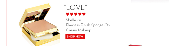 """LOVE"" ♥♥♥♥♥ - Sbelle on Flawless Finish Sponge-On Cream Makeup. SHOP NOW."