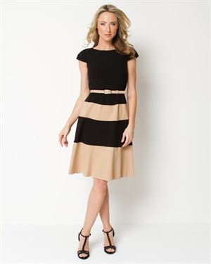 Anne Klein Striped A-Line Dress $65