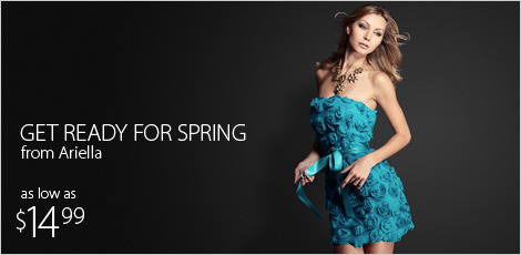 Get ready for Spring with dresses from ariella