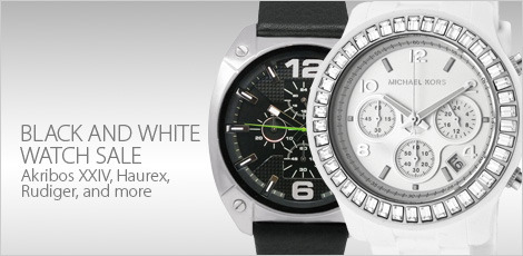 Black and white White watch Sale