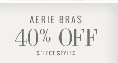 Aerie Bras 40% Off | Select Styles