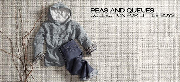 PEAS AND QUEUES:  COLLECTION FOR LITTLE BOYS, Event Ends February 2, 9:00 AM PT >