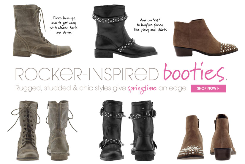 ROCKER-INSPIRED booties. SHOP NOW