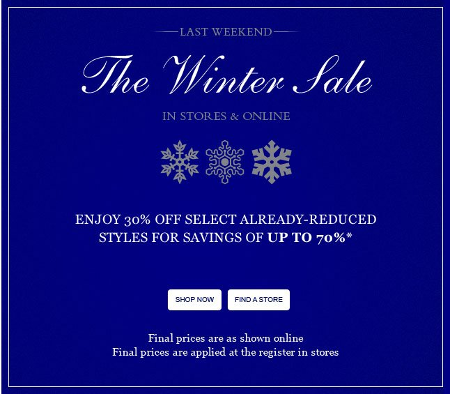 The Winter Sale