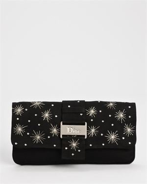 Dior LN Limited Edition Beaded Satin Clutch $599
