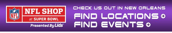 Check us out in New Orleans - Find Locations