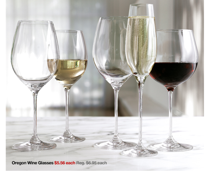 Oregon Wine Glasses $5.56 each Reg. $6.95  each