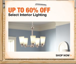 Up to 60% off Select Interior Lighting
