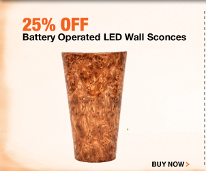 25% off Battery Operated LED Wall Sconces