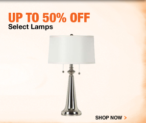 Up to 50% Off Select Lamps