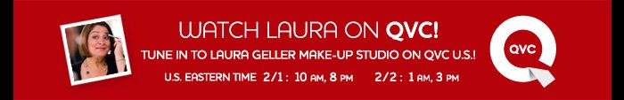 Tune in to Laura Geller Make-Up Studio on QVC U.S.!