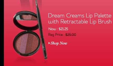 Dream Creams Lip Palette with Retractable Lip Brush Now: $21.25 Regularly: $25.00