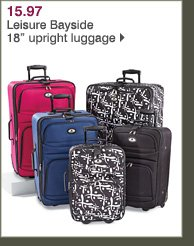15.97 Leisure Bayside 18in upright luggage