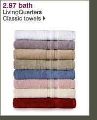 2.97 bath LivingQuarters Classic towels