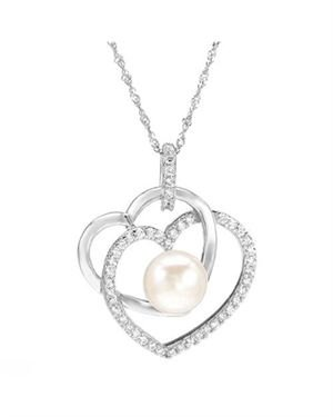 Ladies Freshwater Pearl Necklace Designed In 925 Sterling Silver