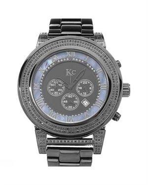 Brand New KC Chronograph Diamond Stainless Steel Men's Watch
