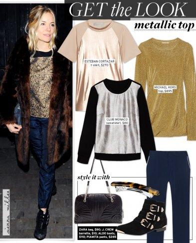 Get The Look: Metallic Top