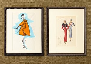 ARCHIVE: French Vintage Fashion Sketches