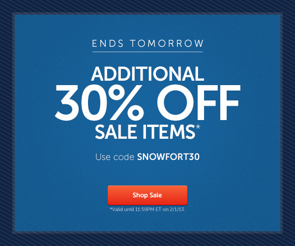 Additional 30% off sale items