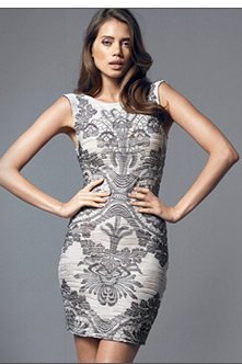 Baroque Ripple Bodycon Dress