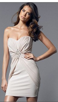 Bandeau Ruffle Chiffon Dress