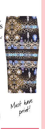 Jewel Animal Pencil Skirt