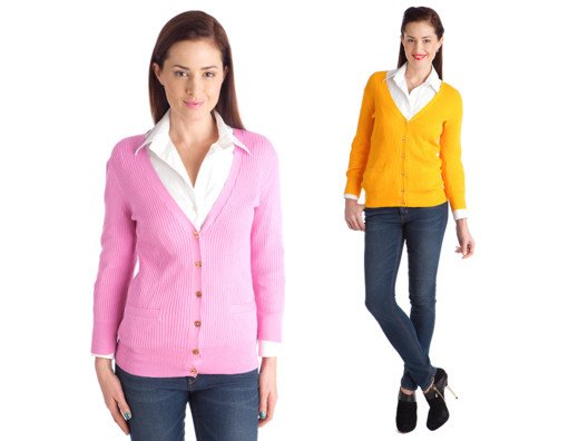 Cardigans like these are wardrobe building blocks and perfect for all year long. These sherbet colors make us so happy, and the gold buttons scream luxe Palm Beach chic.