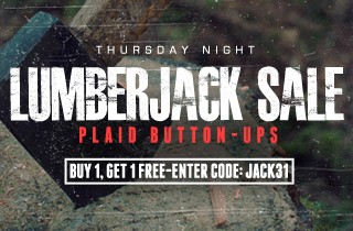 Lumberjack Sale - Buy One Get One Free