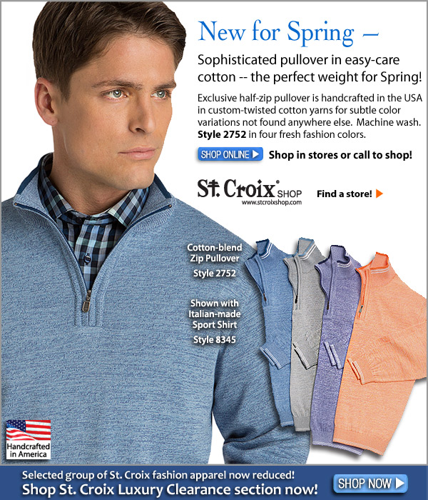 Cotton Zip Pullover in Twist Colors - Style 2752